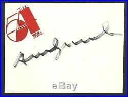 ANDY WARHOL autograph on STUDIO54 letter envelope Unique! RARE! Doble frame