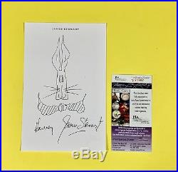 Actor James Jimmy Stewart Signed Harvey Sketch Personal Stationery JSA