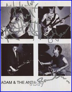 Adam & The Ants Signed 8 x 10 Photo Genuine In Person Adam Ant + 2