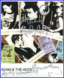 Adam & The Ants Signed 8 x 10 Photo Genuine In Person Adam Ant + 2 Hologram COA