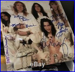 Alice Cooper & band signed 12 x 12 color pic in person with lyrics