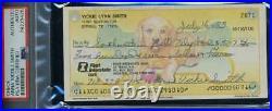 Anna Nicole Vicki Smith PSA DNA Coa Signed 1993 Personal Check Autograph