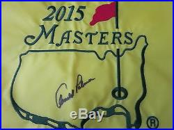 Arnold Palmer signed Masters flag Coa + Proof! In Person autograph golf The KIng