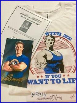 Arnold Schwarzenegger In-person Hand Signed Autographed Photo includes COA