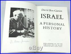 Autographed David Ben Gurion A Personal History Limited Historical Book SIGNED