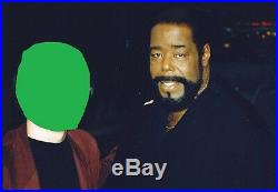 BARRY WHITE Music legend VERY RARE AMAZING IN PERSON SIGNED WithPROOF COA