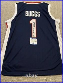 BECKETT COA! JALEN SUGGS Signed Autographed Jersey PERSONALIZED Gonzaga Bulldogs