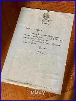 BILL CLINTON JSA AUTOGRAPH Letter SIGNED to Bro ROGER + rare PERSONAL photo
