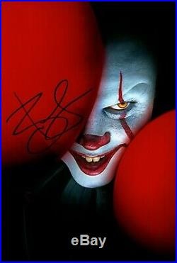 BILL SKARSGARD signed Autogramm 20x30cm IT in Person autograph COA PENNYWISE ES