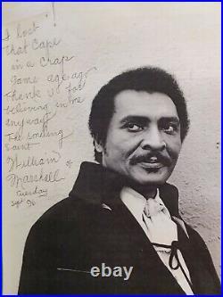 BLACULA 1972- William Marshall Autograph & inscription- (8 X 10)