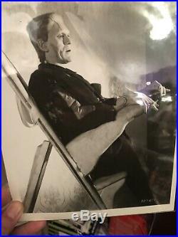 BORIS KARLOFF In-person Autograph Signed With COA & Photos FRANKENSTEIN Universal