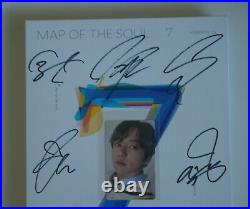BTS Autographed Signed MAP OF THE SOUL 7 (ON) PROMO Album CD JungKook PhotoCard