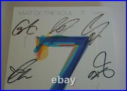 BTS Autographed Signed MAP OF THE SOUL 7 (ON) PROMO Album CD+ SUGA PhotoCard D