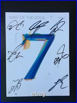 BTS MAP of the Soul 7 autographed signed album