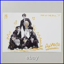 BTS Map Of The Soul 7 Version4 Autographed Signed Promo Album Group Photocard