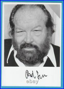 BUD SPENCER in person signed glossy PHOTO 5 x 7 inch AUTOGRAPH