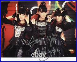 Babymetal (Band) Fully Signed 8 x 10 Photo Genuine In Person + Hologram COA