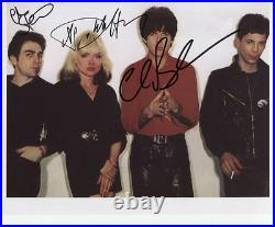Blondie (Band) Deborah Harry Signed Photo Genuine In Person Chris Stein + Clem