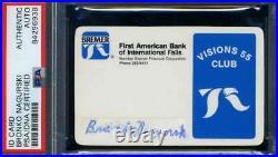 Bronko Nagurski PSA DNA Coa Hand Signed Personal Bank ID Card Autograph