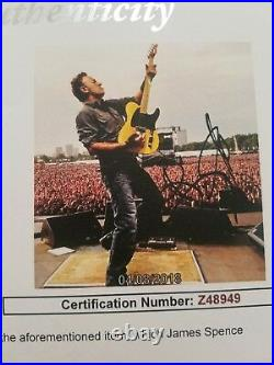 Bruce Springsteen Signed A Rare11x14 Photo in person JSA CERTIFIED LETTER
