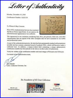 Byron Nelson Signed Autographed Personal Letter to Doug Sanders PSA