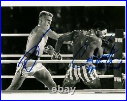 CARL WEATHERS DOLPH LUNDGREN signed Autogramm 20x25cm ROCKY In Person autograph