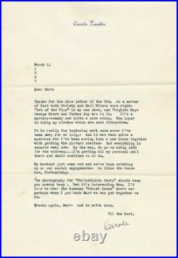 CAROLE LANDIS Original Vintage 1947 SIGNED AUTOGRAPHED Private / Personal Letter