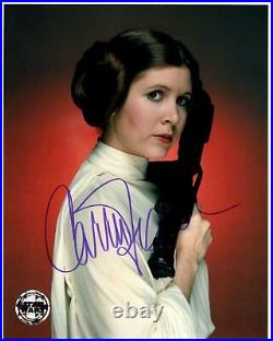 CARRIE FISHER signed Autogramm 20x25cm STAR WARS In Person autograph COA LEIA