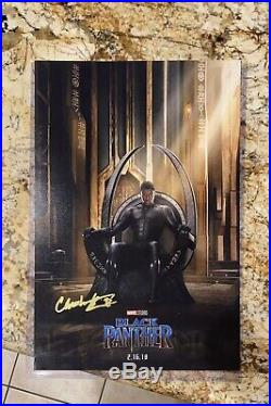 CHADWICK BOSEMAN Signed BLACK PANTHER 12x18 Photo IN PERSON Autograph