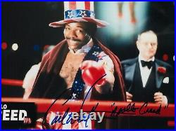Carl Weathers signed Apollo Creed 8x10 photo In Person Proof. Stalonne Rocky