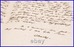 Charles BAUDELAIRE ORIGINAL SIGNED AUTOGRAPH LETTER to his mother 1864