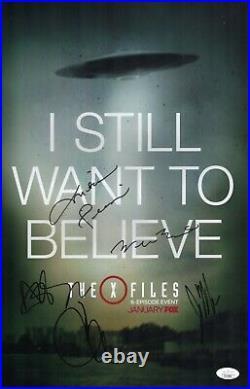 Chris Carter X-FILES Cast X5 Signed 11x17 In Person Autograph JSA COA Cert