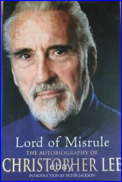 Christopher Lee HAND SIGNED Lord Of Misrule H/B Book IN PERSON COA Star Wars