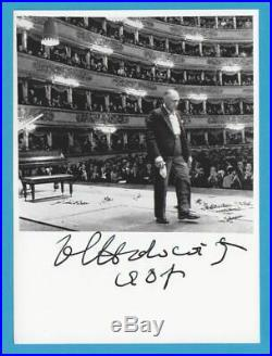 Classic VLADIMIR HOROWITZ in person signed glossy PHOTO 5x7 inch 13/18 cm