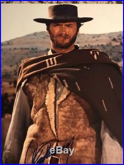 Clint Eastwood In-Person 11x14 Signed PHOTO COA JSA Western