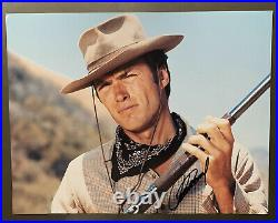 Clint Eastwood In-Person 11x14 Signed PHOTO COA PSA PSA/DNA Cowboy