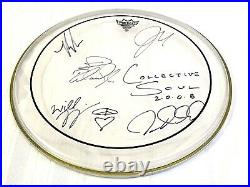 Collective Soul Signed Autograph Drum Head Fully Signed