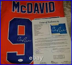 Connor McDavid 2017 MVP Signed Jersey Size XL in person. JSA FULL LETTER