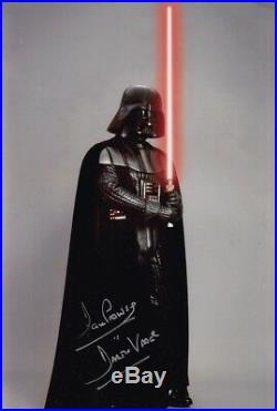 DAVE PROWSE signed Autogramm 20x30cm STAR WARS In Person autograph DARTH VADER