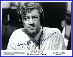 DAVID LYNCH in person HAND SIGNED 8x10 press kit photo MULHOLLAND DRIVE Rare