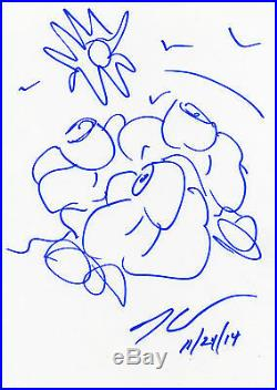 DESSIN ORIGINAL Et AUTOGRAPHE De Jeff KOONS (signed sketch in person)
