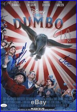 DUMBO Cast X3 TIM BURTON Signed 12x18 Photo In Person Autograph JSA COA