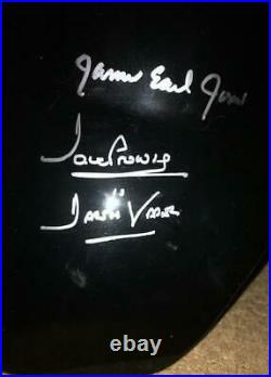 Dave Prowse & James Earl Jones signed Darth Vader helmet. In-person by both