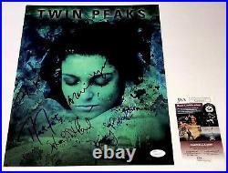 David Lynch TWIN PEAKS Cast X5 Signed 11x14 Photo In Person Autograph JSA COA