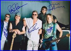 Deep Purple Very Rare Amazing All In Person Signed With Proof Coa