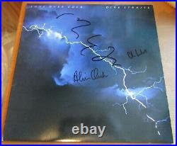 Dire Straits Signed Knopfler + 2 Vinyl LP Album Genuine In Person + Hologram COA