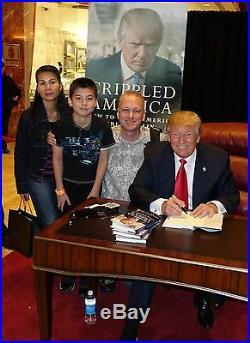 Donald Trump Signed Book Jsa Coa Crippled America Not A Bookplate In Person