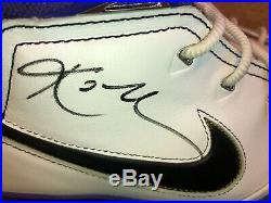 Dual signed Kobe Bryant size 12 shoes. Signed in person Lakers Black Mamba