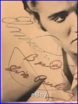 ELVIS PRESLEY hand signed RCA card, autograph In-person 1959, 2 COA, EP museum