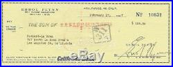ERROL FLYNN Signed Personal Cheque dated 1947